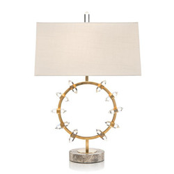 Crystal Wand Table Lamp - Brass