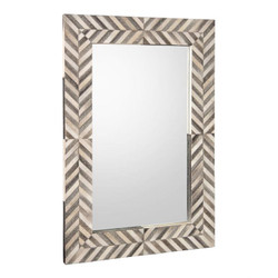 Hair on Hide Framed Mirror