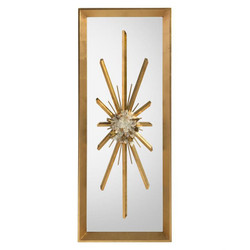 Golden Crystal Burst Mirror I