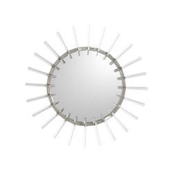 Cloe Mirror in Nickel