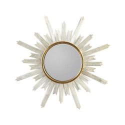Selenite Starburst Mirror
