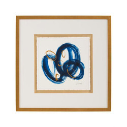 Dyann Gunter's Blue and Gold II - 23X23