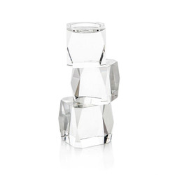 Crystal Cubist Candleholder - Small