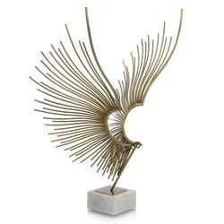 Abstract Bird Sculpture - Gold