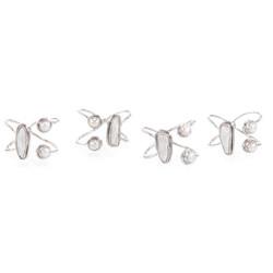Set of Four Bawai Pearl Napkin Rings
