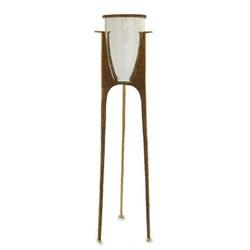 Glass Vase on Floor Stand