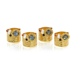 Set of Four Luxe Napkin Rings