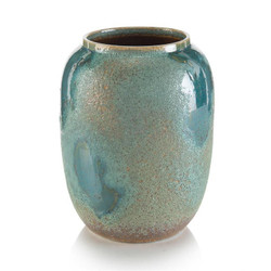 Sea-Foam Porcelain Blue Jar