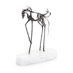Sculptural Horse on Selenite