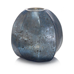 Hint of Blue Oval Vase