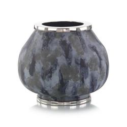 Metal Vase in Blue Hues - Large