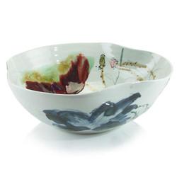 Curled-Rim Porcelain Bowl - Medium
