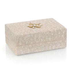 Hand-Beaded Box II - Cream