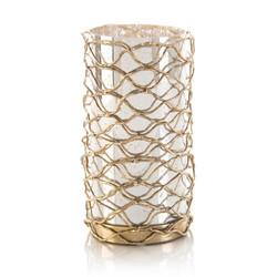 Woven Brass Candleholder I