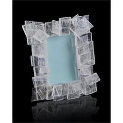 Windowpane Selenite Photo Frame
