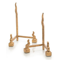 Set of Two Forged Charger Stands