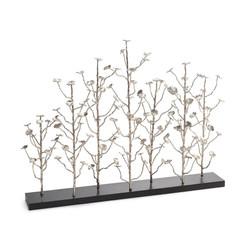 Organically Grown Sculptural Fireplace Screen