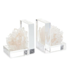 Set of Two Quartz Crystal Bookends
