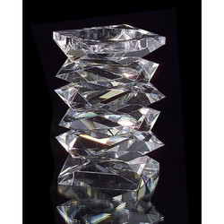 Stacked Crystal Candleholder - Small