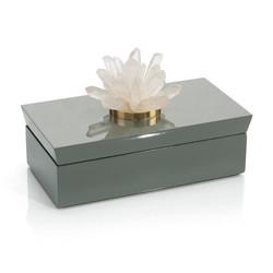 Grey Box with Quartz - Rectangular