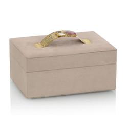 Blush Suede Jewelry Box I