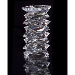Stacked Crystal Candleholder - Large
