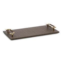 Tobacco Alligator Leather Tray