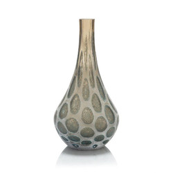 The Look of Agate Handblown Glass Vase II