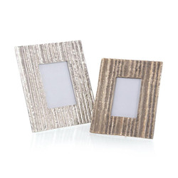 Set of Two Organic Striations Picture Frames