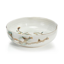 Twigs and Teal Bowl I
