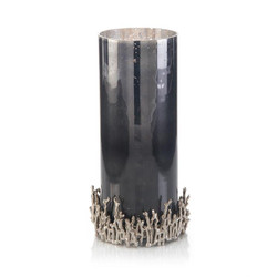 Studded in Nickel Twigs Candleholder I