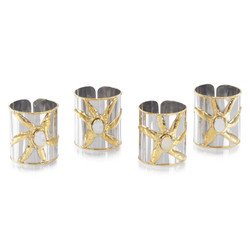 Set of Four Mother-of-Pearl Napkin Rings