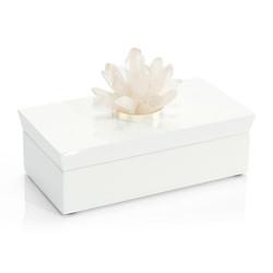 Long White Box with Quartz