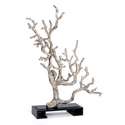 Branch Sculpture in Silver