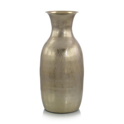 Gold Etched Metal Vase