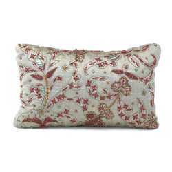 Grey Heavily Embroidered Pillow