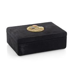 Bejeweled Black Hair on Hide Box