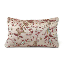 Grey Iridescence Embroidered Pillow