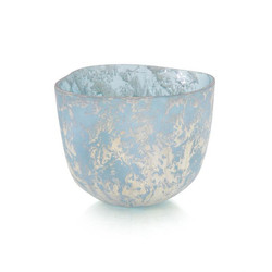 Powder Blue Bowl with Silver Overlay