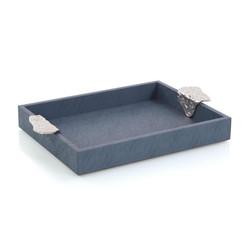 Gypsy Blue Leather Tray II