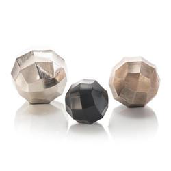 Set of Three Grid Chisel Round Balls