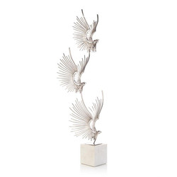 Sculpted Birds in Flight