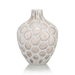 The Look of Quartz Handblown Glass Vase