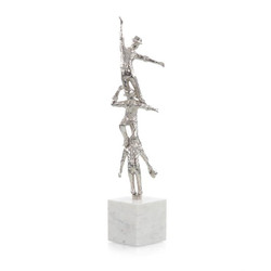 Dancing Men Sculpture II in Nickel