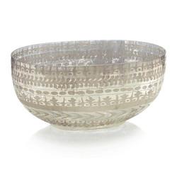 Etched Mercury Glass Bowl