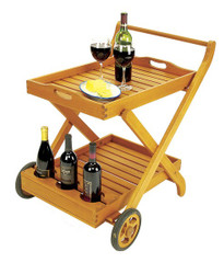 Serving Cart with Tray
