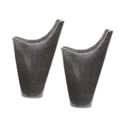 Reaction Filled Vases In Grey -Set Of 2