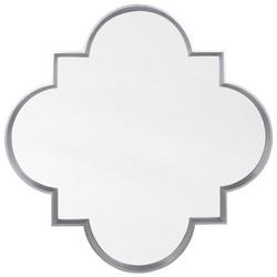 Silver Leaf Quatrefoil Mirror