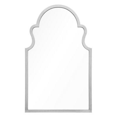 Distressed Silver Leaf Arch Mirror
