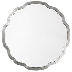 Silver Leaf Round Chippendale Mirror